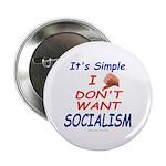 "No Socialism 2.25"" Button (100 pack)"