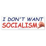 No Socialism (Bumper Sticker)