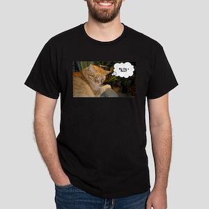 Orange Tabby Cat Humor Dark T-Shirt