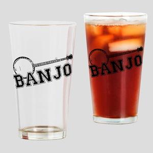 Bluegrass Banjo Drinking Glass