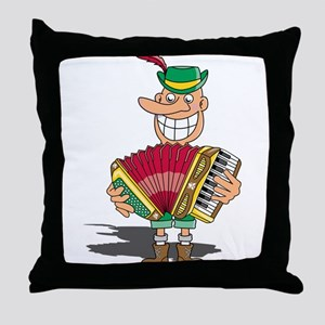 Maniacal Musician Throw Pillow