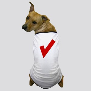 Red Checkmark Dog T-Shirt