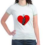 Highland Dance Ghillie Heart Jr. Ringer T-Shirt
