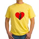 Highland Dance Ghillie Heart T-Shirt in Yellow