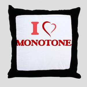 I Love Monotone Throw Pillow