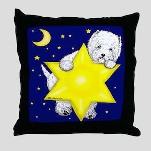 Westie Star Throw Pillow