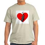 Highland Dance Ghillie Heart T-Shirt in Ash Gray