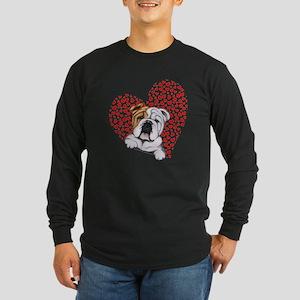 English Bulldog Lover Long Sleeve Dark T-Shirt