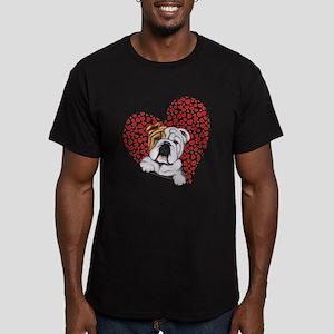 English Bulldog Lover Men's Fitted T-Shirt (dark)