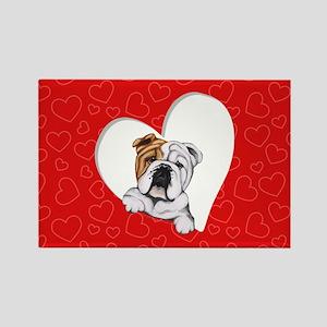 English Bulldog Lover Rectangle Magnet