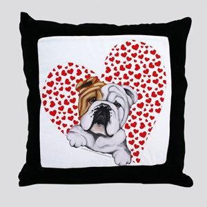 English Bulldog Lover Throw Pillow