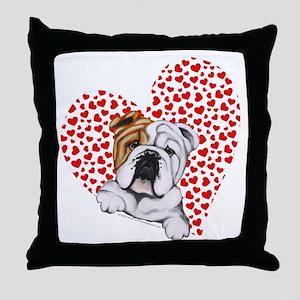 English Bulldog Lover Throw Pillow