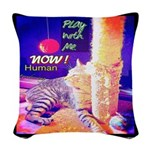 Play With Me Woven Throw Pillow