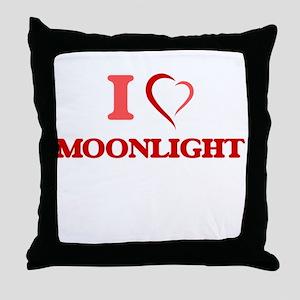 I Love Moonlight Throw Pillow