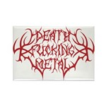 Death F'ing Metal Rectangle Magnet (10 pack)