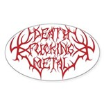 Death F'ing Metal Oval Sticker