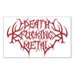 Death F'ing Metal Rectangle Sticker 10 pk)