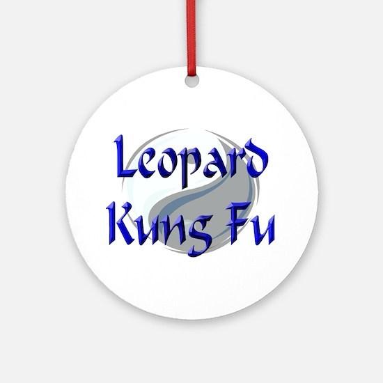 Leopard Kung Fu Ornament (Round)