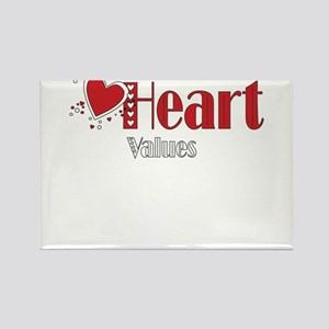 Heart Values Rectangle Magnet