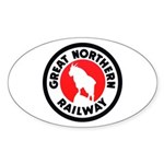 Great Northern Oval Sticker