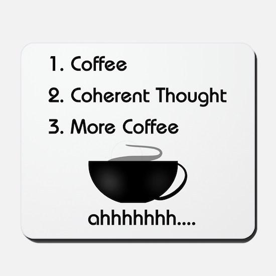 Coffee List More Coffee Mousepad