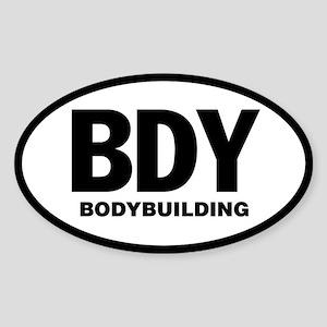 BODYBUILDING Sticker (WHITE Oval)