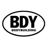 BODYBUILDING Sticker (WHITE Oval)