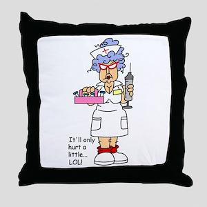 Nurse Hurt Throw Pillow