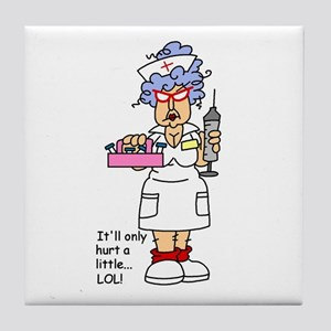 Nurse Hurt Tile Coaster