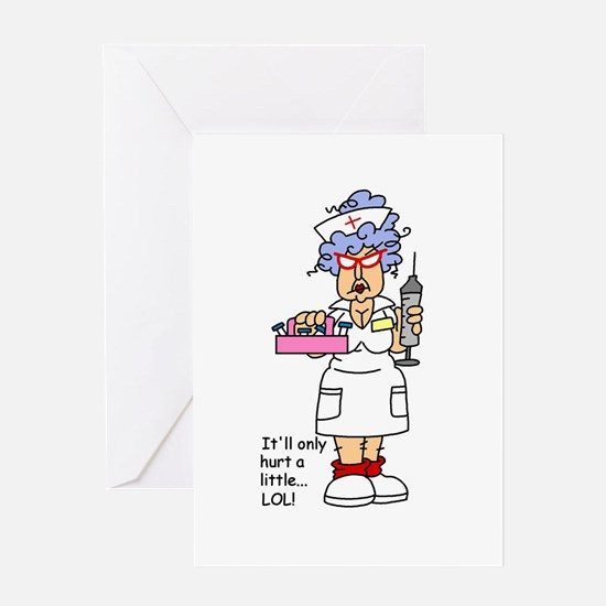Nurse Hurt Greeting Card