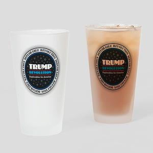 Trump Revolution Deplorables Drinking Glass