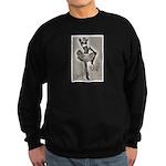 Cowgirl Pinup in Tutu Sweatshirt (dark)