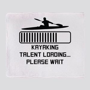 Kayaking Talent Loading Throw Blanket
