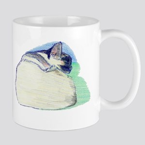 Sleeping SiameseW Mugs