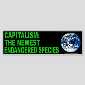 Capitalism endangered (sticker)