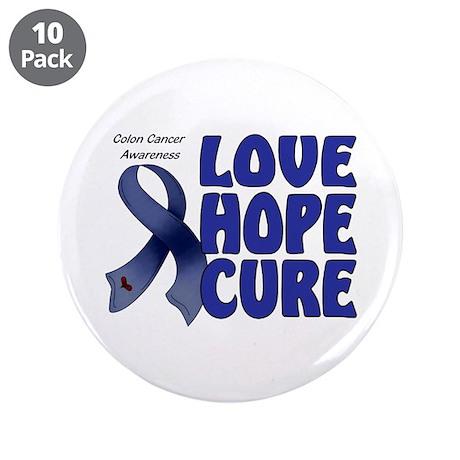 "Colon Cancer 3.5"" Button (10 pack)"