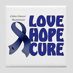 Colon Cancer Tile Coaster