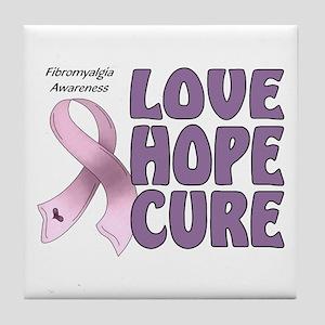 Fibromyalgia Awareness Tile Coaster