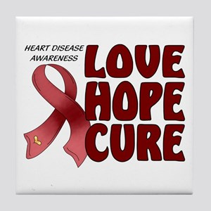 Heart Disease Awareness Tile Coaster
