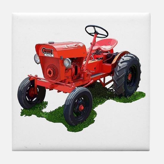 Garden tractor Tile Coaster