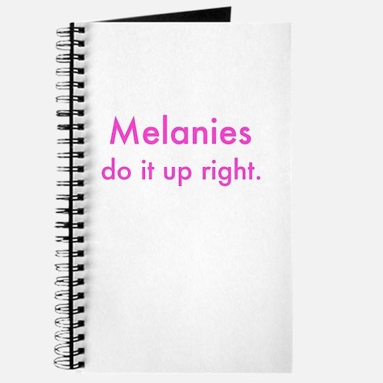 Unique Melanie Journal