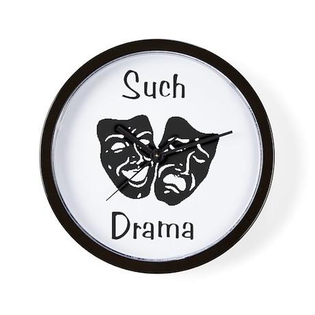 Such Drama Wall Clock