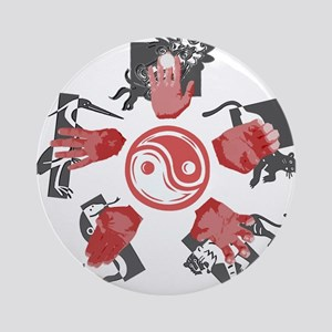 Five Animal Hands Ornament (Round)