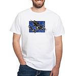 Gravity Sledder Blue White T-Shirt
