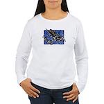 Gravity Sledder Blue Women's Long Sleeve T-Shirt