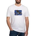 Gravity Sledder Blue Fitted T-Shirt