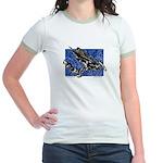 Gravity Sledder Blue Jr. Ringer T-Shirt