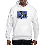 Gravity Sledder Blue Hooded Sweatshirt