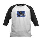 Gravity Sledder Blue Kids Baseball Jersey