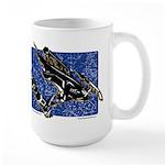 Gravity Sledder Blue Large Mug